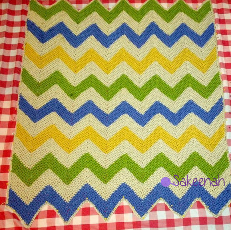 Blocking a Chevron Blanket | Sakeenah.com