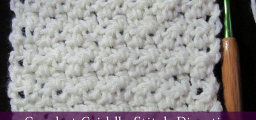 Crochet Griddle Stitch (cobble stitch) Directions | Sakeenah