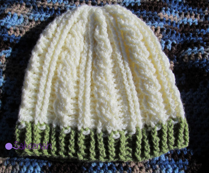 Crochet Knit Stitch Hat : Crochet Cable Hat - link to free crochet pattern in post, from ...