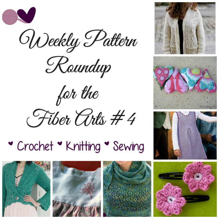 Weekly Pattern Roundup for the Fiber Arts 4 - Free and Paid Patterns: Crochet, Knit, Sewing Sakeenah.com