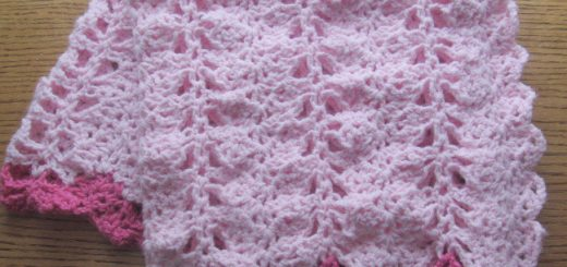 A Crocheted Pink Baby Girl Blanket | Link to free pattern in post - Sakeenah.com